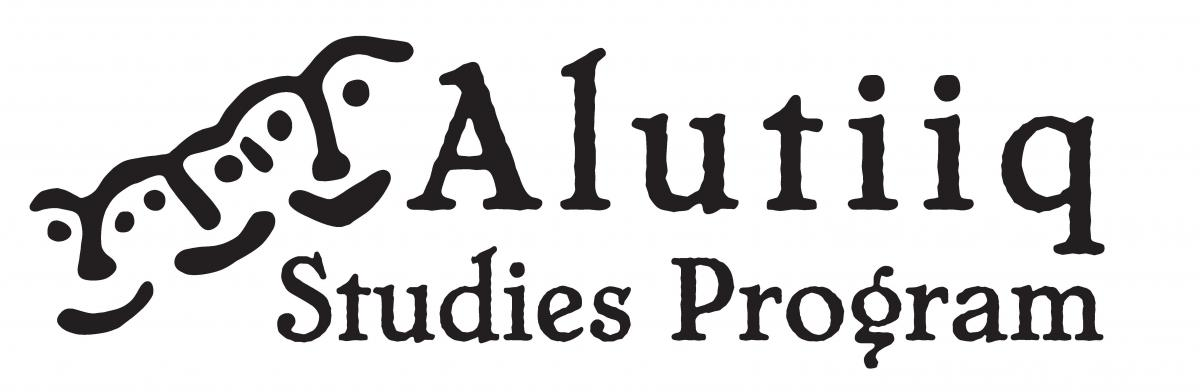 alutiiq studies logo petroglyph faces with words